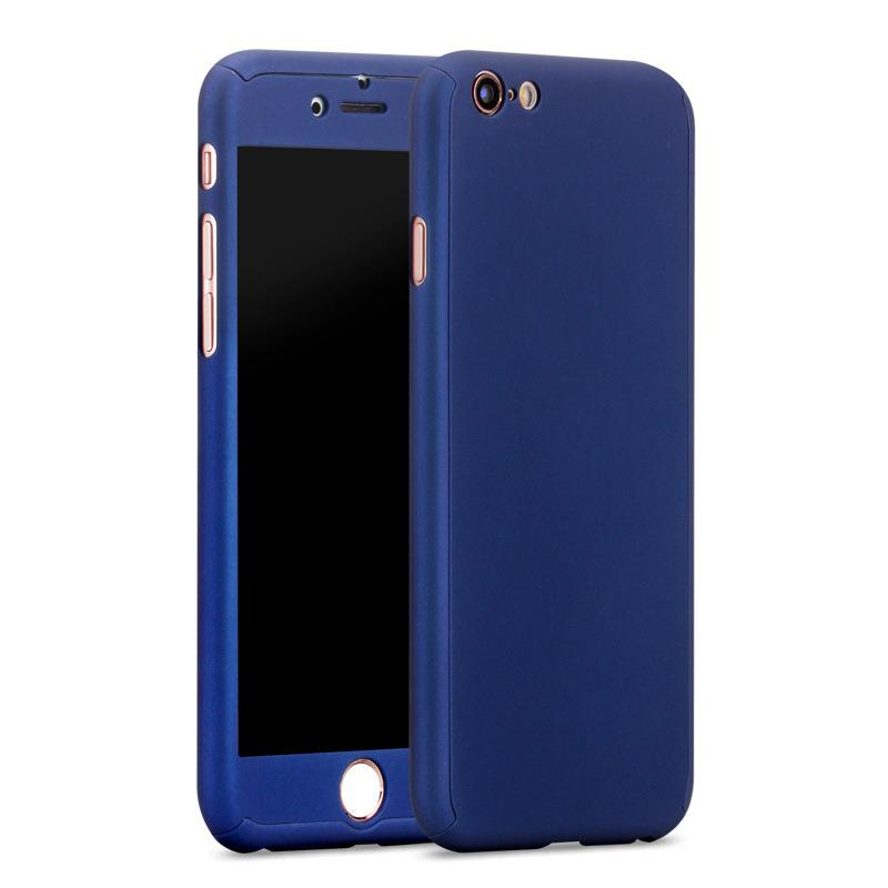 iPhone 6/6S Full Cover Case 360 Degree Protection (BMW Blue)