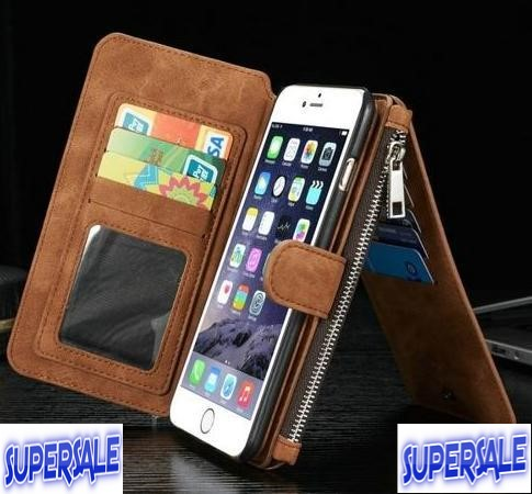 iPhone 6 & 6s multifunction zipper wallet purse casing case cover