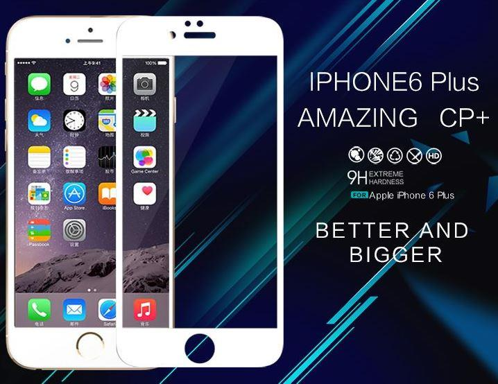 best website dd18e 5ae1c IPHONE 6 6S PLUS FULL NILLKIN TEMPERED GLASS SCREEN PROTECTOR