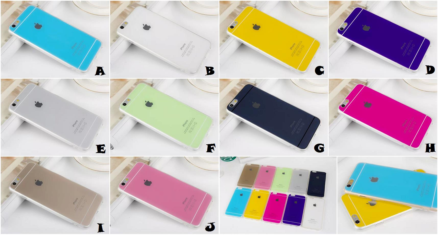 best cheap 87a8a 76e8d iPhone 6 6S Plus GOLD PINK BLUE GREY PURPLE Thin Case Cover *FREE