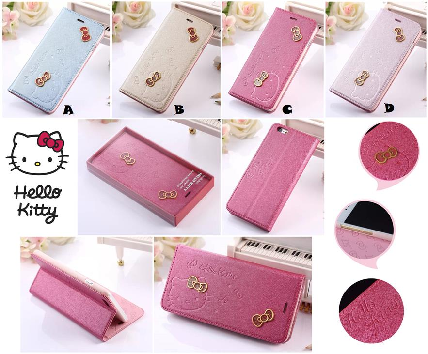 more photos 8f42a 54f2f iPhone 6 6S Plus Hello Kitty Flip Wallet Leather Case Cover *FREE