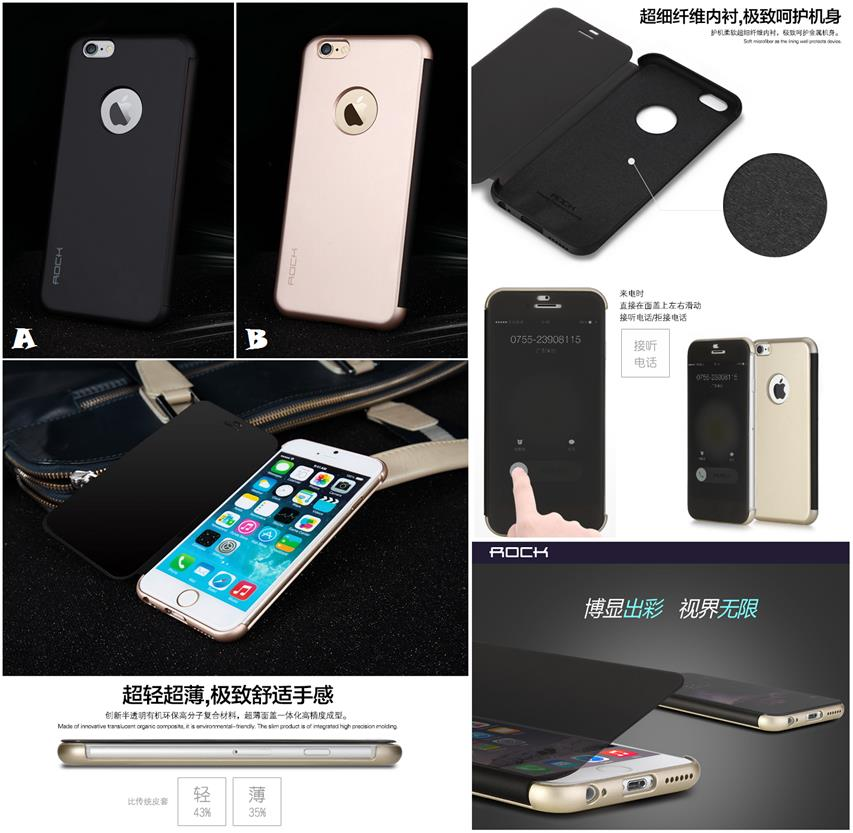 hot sale online 58145 0b91c iPhone 6 6S Plus ROCK DR.V SMART Transparent Flip Case Cover *FRE