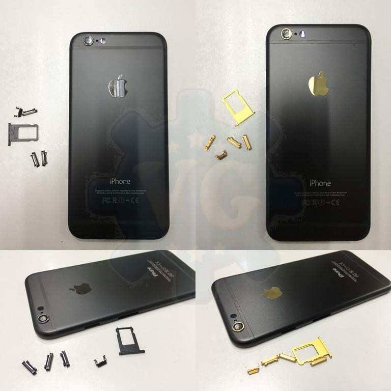 the best attitude 057c5 4666d iPhone 6 6S Plus to convert iPhone 7 Plus Housing Steel Back Gold