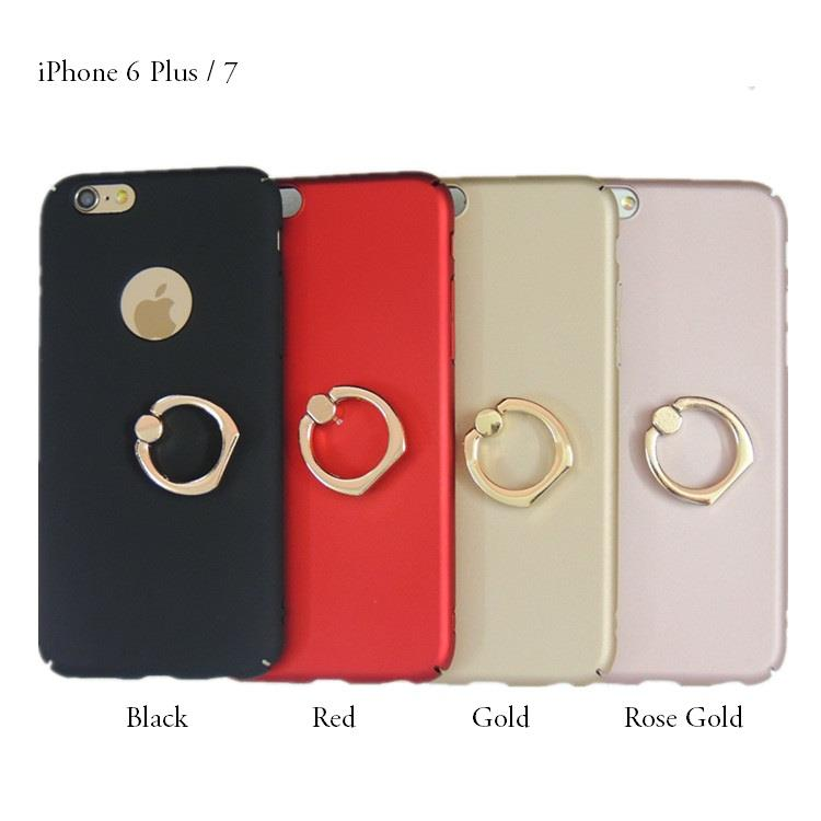 new styles a4bb5 ad388 iPhone 6 Plus 7 7 Plus Back Case With Ring Holder Stand
