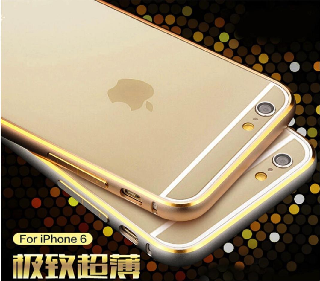best loved 8172c fb22a Iphone 6 Plus Gold Steel Metal Aluminium Slim Bumper Case
