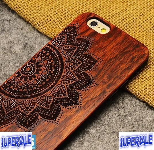 differently 4af01 36aee iPhone 6 Plus Real Wood Craved CASE CASING COVER