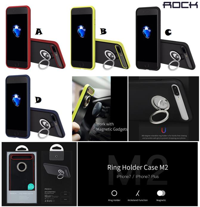 separation shoes 3fca6 e679f iPhone 7 7 Plus ROCK M2 Ring Holder Stand Magnet Case Cover *FREE SP*