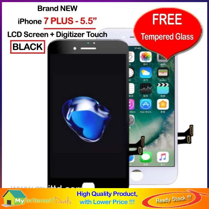 iPhone 7 7P 8 8-PLUS LCD Touch Screen Digitizer FREE Tempered Glass