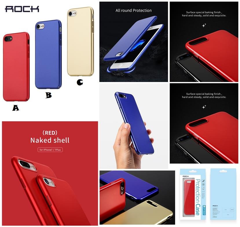 new concept 68901 a8ac8 iPhone 7 8 Plus ROCK Naked Shell Series PP ONLY 0.37MM Case Cover *FRE