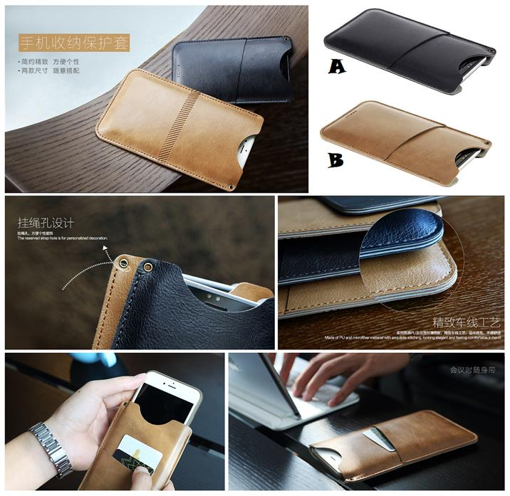 hot sale online 31f1e b421e iPhone 7 8 Plus ROCK Pouch Card Pocket Wallet Leather Case Cover *FREE
