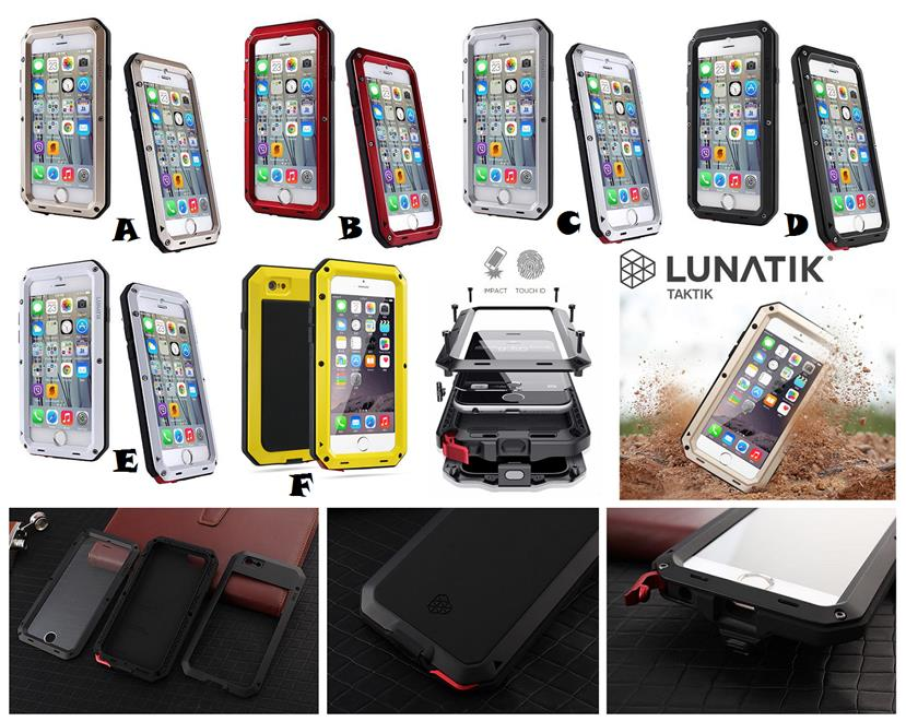 new product a0c1a 2b334 iPhone 8 8 Plus LUNATIK Extreme Protection Waterproof Case Cover