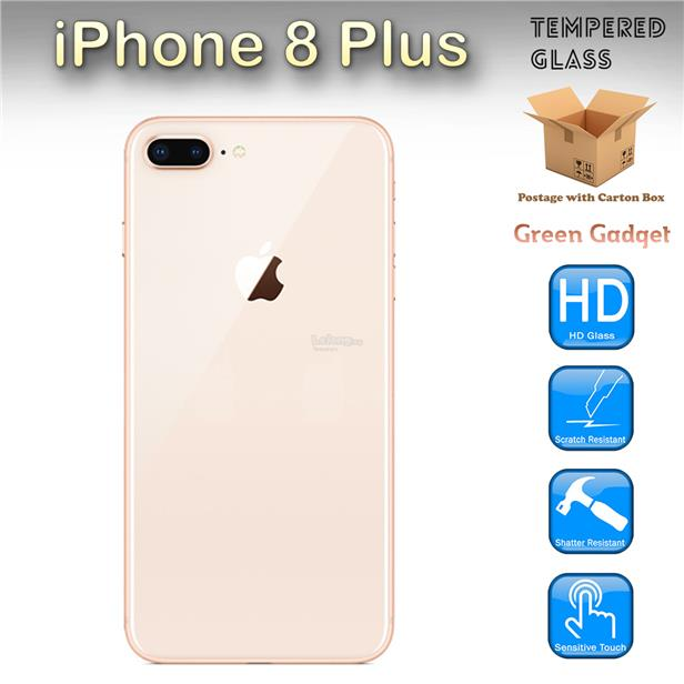 lowest price 3bd8c dcd94 iPhone 8 Plus Full 3D Tempered Glass Back Cover Protector