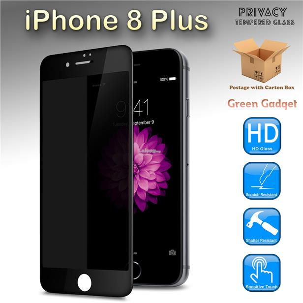 iPhone 8 Plus Privacy Full Tempered Glass Screen Protector