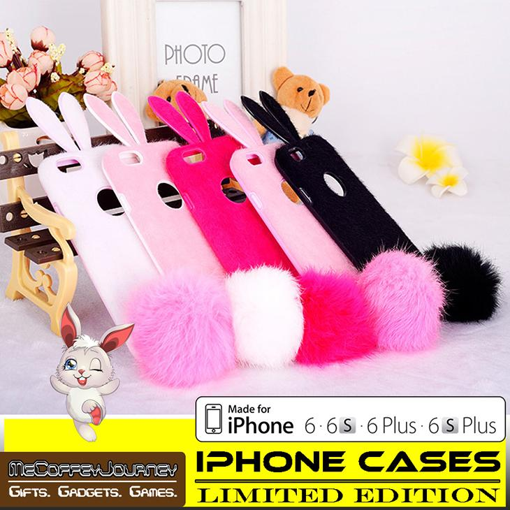 buy popular fabb7 8f73b IPHONE CASE Bunny Rabbit Ear Fur for iPhone 6 / 6S / 6 Plus / 6S Plus