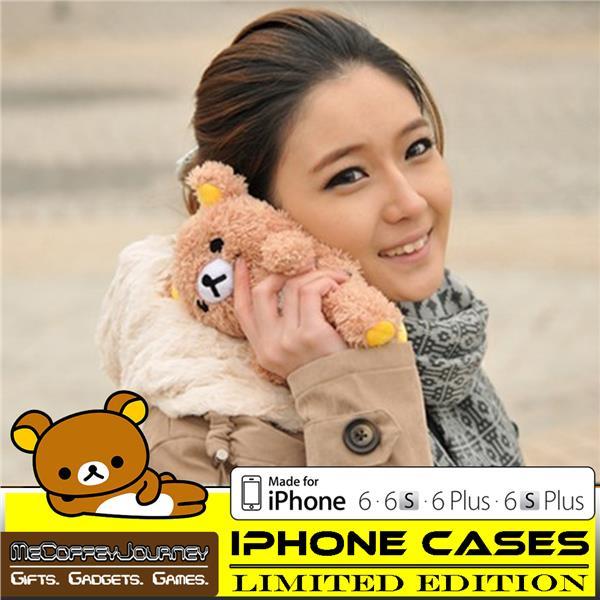 in stock 0776f 27f8b IPHONE CASE Rilakkuma Plush Bear for iPhone 6 / 6S / 6 Plus / 6S Plus