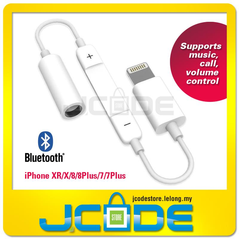 sale retailer 77890 d115c iPhone Lightning to 3.5mm Headphone Bluetooth Audio Jack Adapter