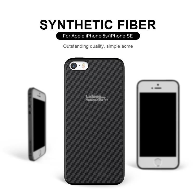 best service 40795 d04a8 iPhone X 5 5S SE 6 6S 7 Plus Nillkin Synthetic Fiber Case Casing Cover