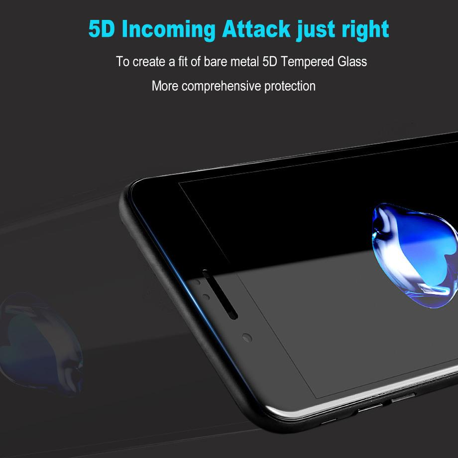iPhone X 6 6S 7 8 Plus 5D Privacy Full Screen Cover Tempered Glass
