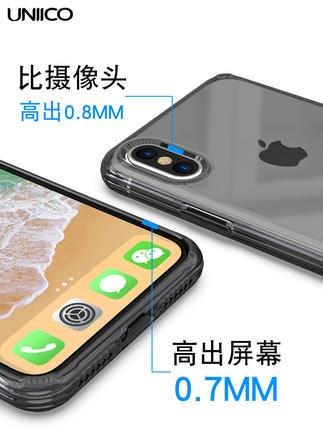 IPhone X/7/8/7+/8+ transparent silicone case cover