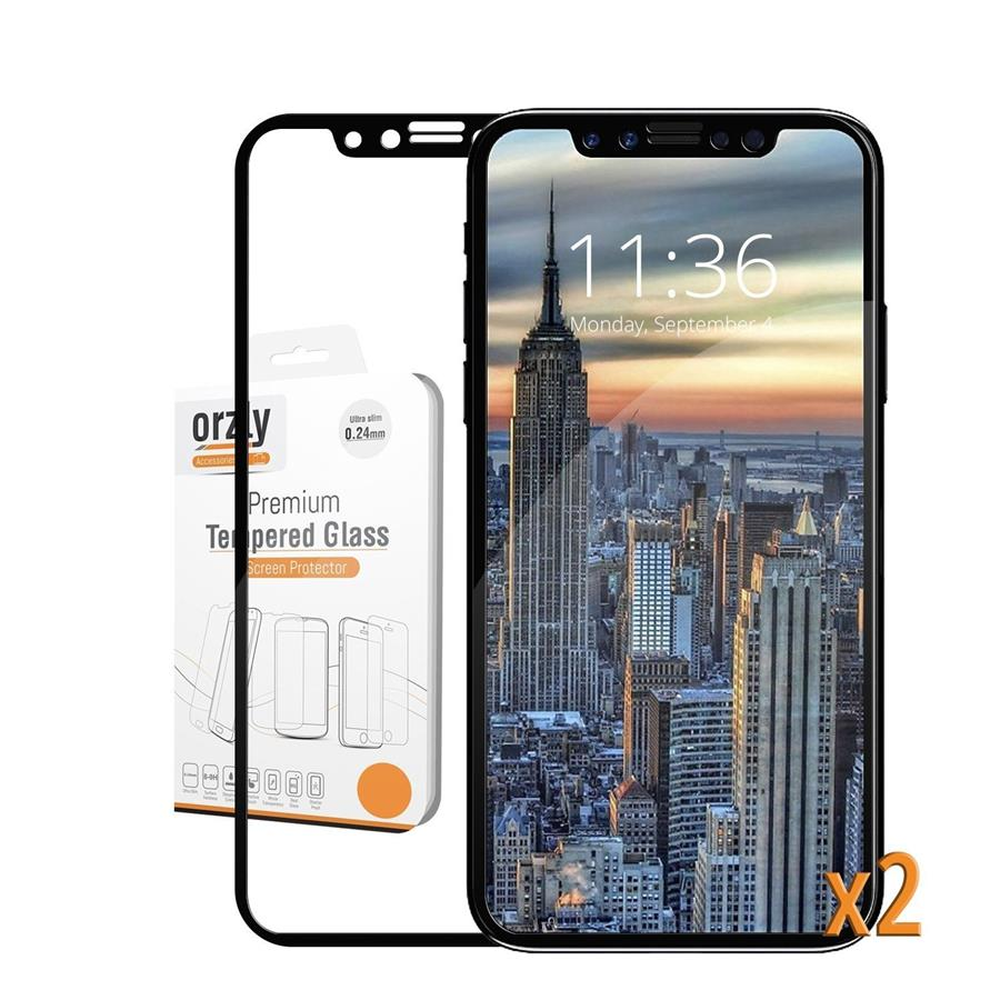 Iphone X 7 8 Plus Orz End 12 2 2019 957 Am Tempered Glass Clear 3d Full Cover Premium Pro Orzly Fit 2x