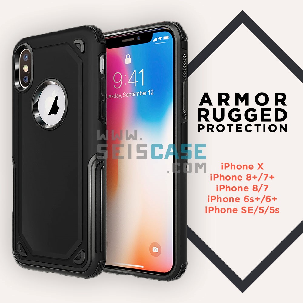 the latest b5247 87077 iPhone X 8 7 6 Plus 5 SPIGEN OEM Hybrid Armor Rugged Protection Case
