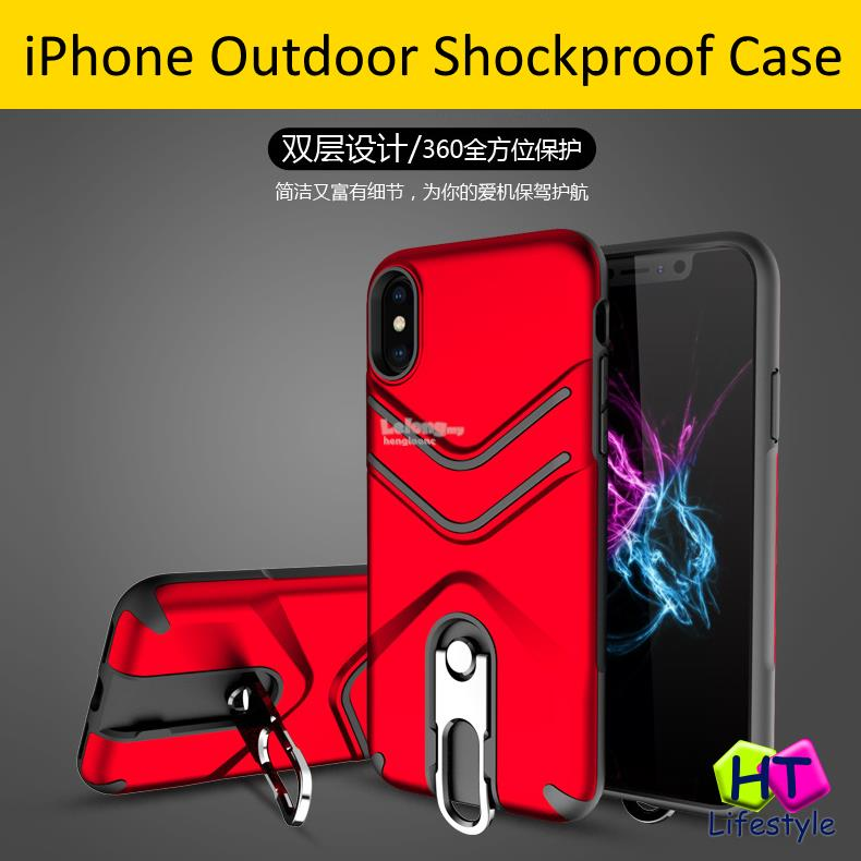 intl Source · iPhone X Anti Fingerprint Shockproof PC TPU Armor Case With .