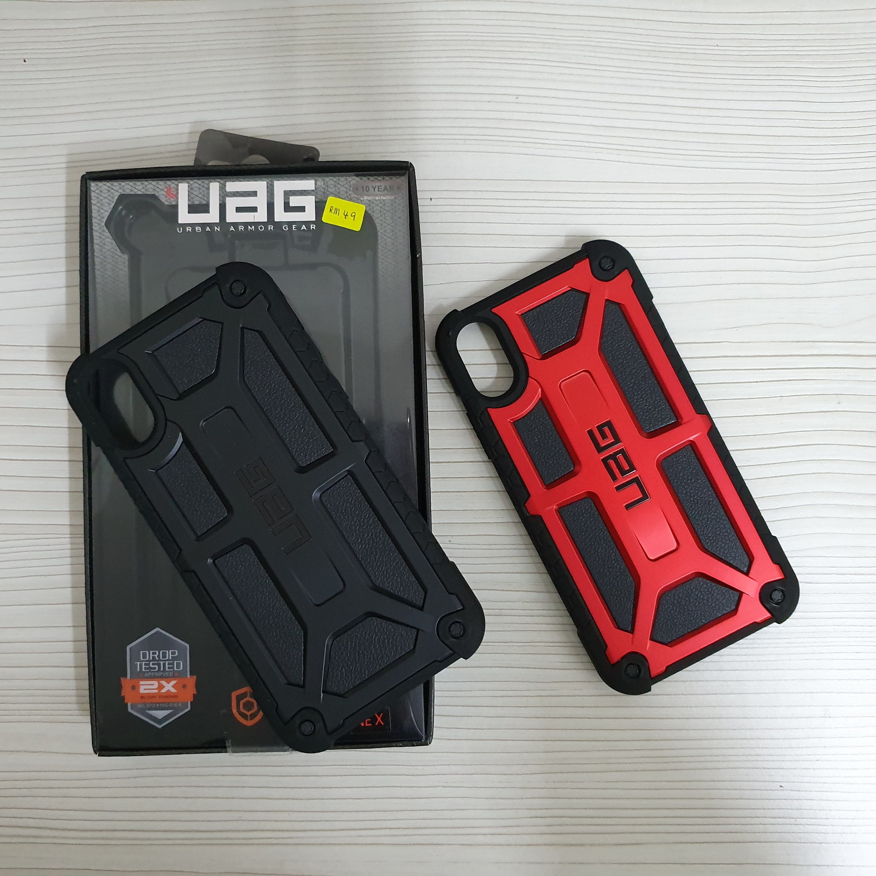 competitive price 6c6a5 e2a3e Iphone X UAG Monarch Armour leather Case Cover OEM