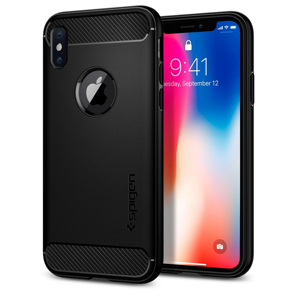 premium selection 8773f 76bab Iphone X XR XS MAX Genuine Spigen Rugged Armour Case