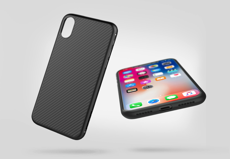 buy online 867b8 dc559 iPhone X XS Nillkin Synthetic Fiber Case Cover