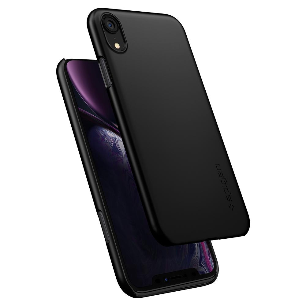 quality design a303e 5e379 Iphone X XS XR Spigen Thin Fit Matte Black Snap on Case