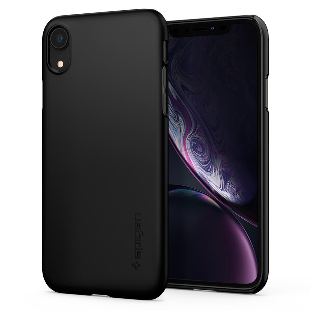 quality design f04dd 2c121 Iphone X XS XR Spigen Thin Fit Matte Black Snap on Case