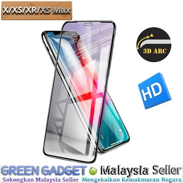 iPhone X XS XR XS Max Screen Protector 3D Tempered Glass
