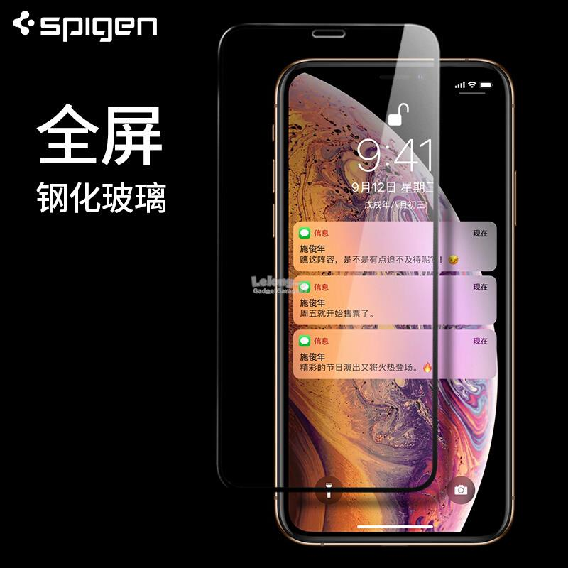 watch 2c542 949b6 iPhone X XS / XR / XS MAX - Spigen Full Screen Tempered Glass (1 Pack)