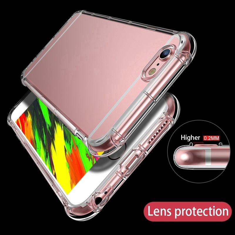 Iphone X XS XR XSMax Shockproof Silicone Protection Transparent Clear Case Cov