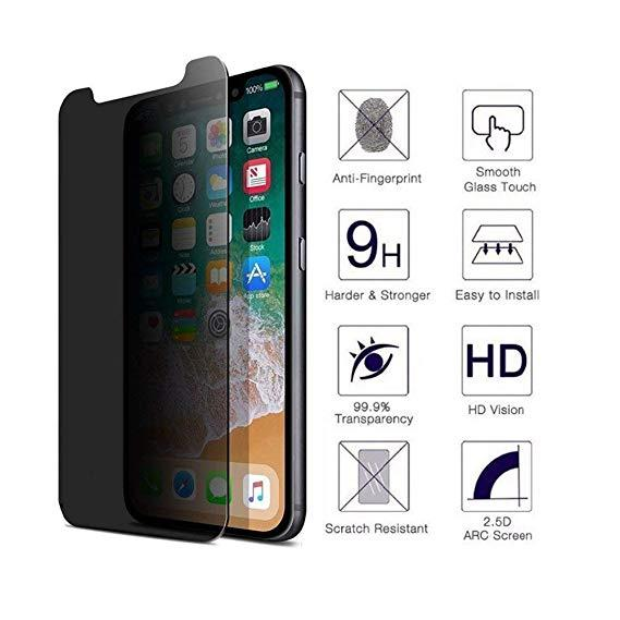 info for 40e49 94d9b iPhone XS Max 9H Privacy Anti Peep Tempered Glass