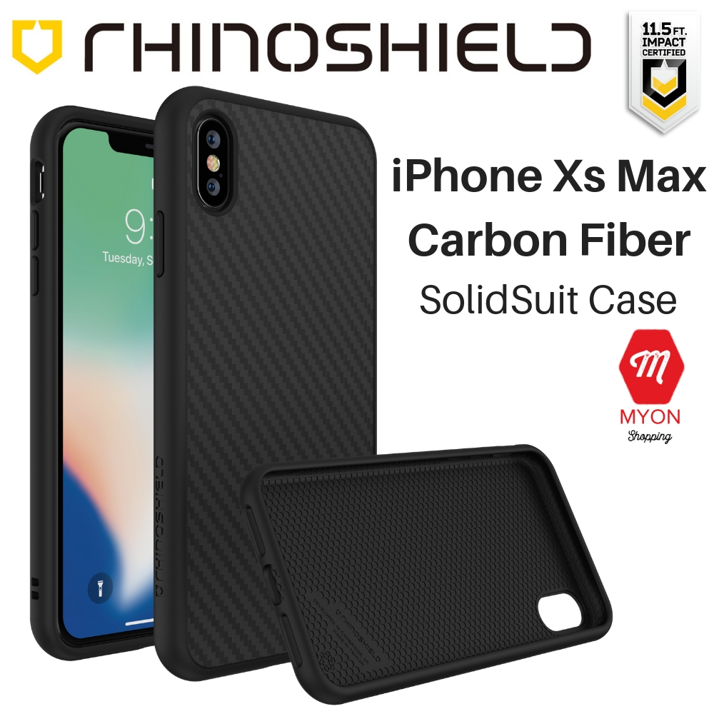 big sale f0265 f88ef iPhone Xs Max Case - Rhinoshield SolidSuit [Carbon Drop Protection]