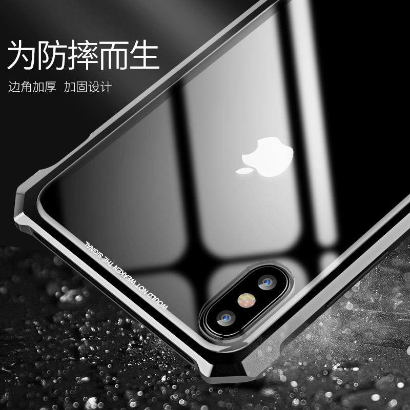 iPhone XS Max/XR/ XS transparent glass case cover