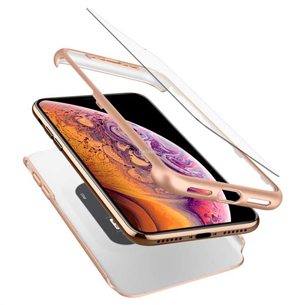 iPhone XS / X - Ori Spigen Thin Fit 360 Case Cover (Gold)