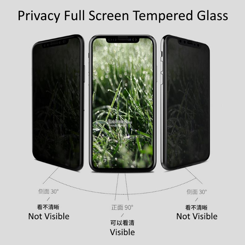iPhone XS / X Privacy Tempered Glass Full Screen Protector