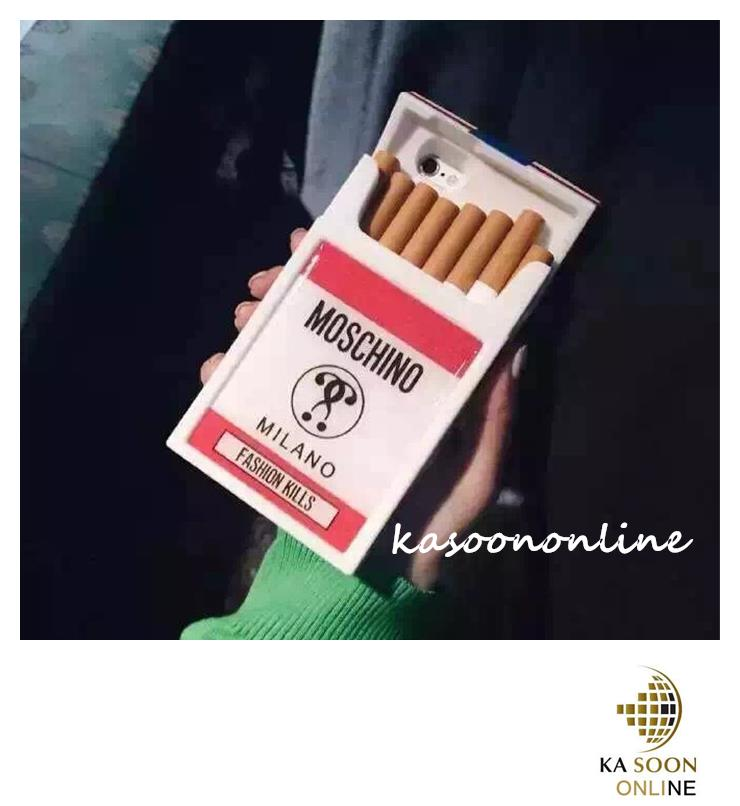 newest 28412 6c8ab iPhone5/5s,6/6s4.7'',iPhone 6Plus5.5'' Moschino Cigarette Case Casing