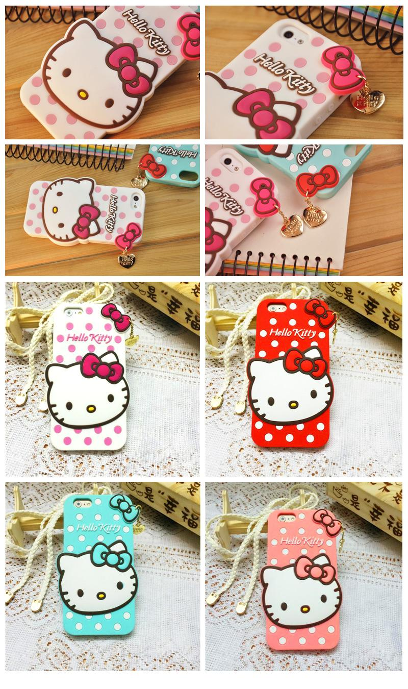 iPhone6 / iPhone 6 Plus HelloKitty Silicone Soft Case Free Screen Film