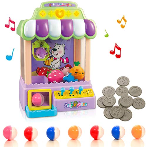 IQ Toys Claw Machine, Electronic Arcade Grabbing Toy for Kids with Music, Priz