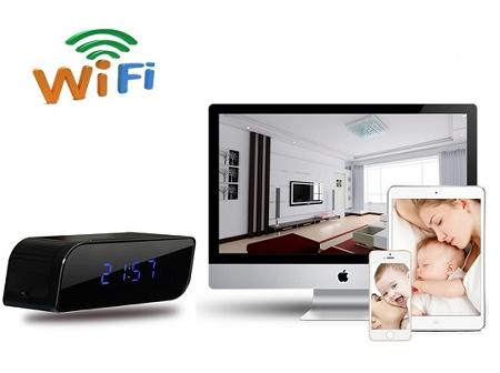IR Wifi IP Clock Camera For iPhone/Android (WIP-25B).