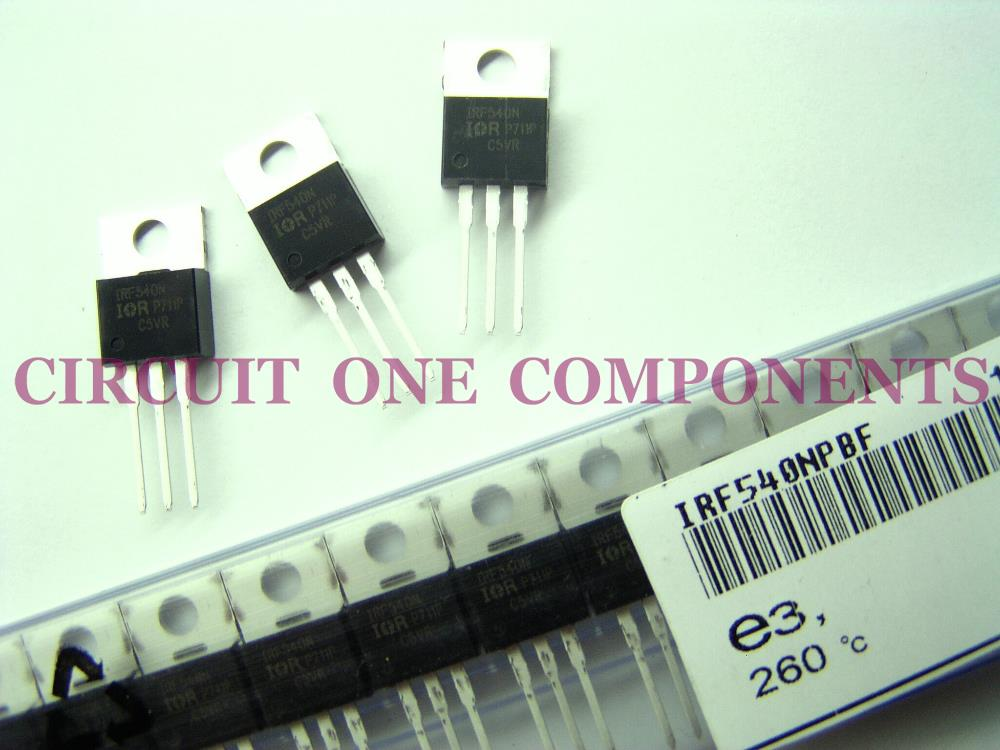 IRF540 / IRF540N N-Channel MOSFET TO-220 - Each