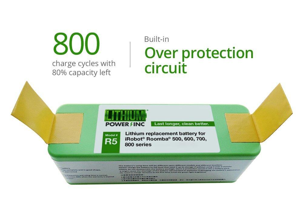 iRobot Roomba Lithium Replacement Battery 500/600/700/800/980 4400 mAH