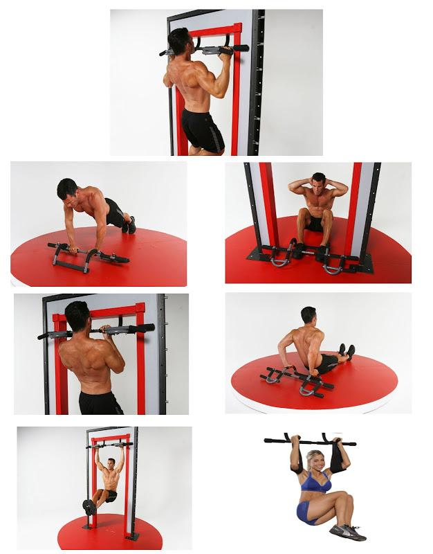 Iron Gym 323 Upper Body Workout Bar Fitness Abs Push Up Exercise Door
