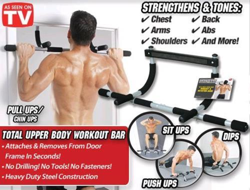 Iron gym upper body workout bar abs end pm