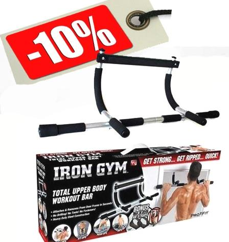 New Iron Gym Upper Door Body Workout Chin Pull Push Up Bar Workout