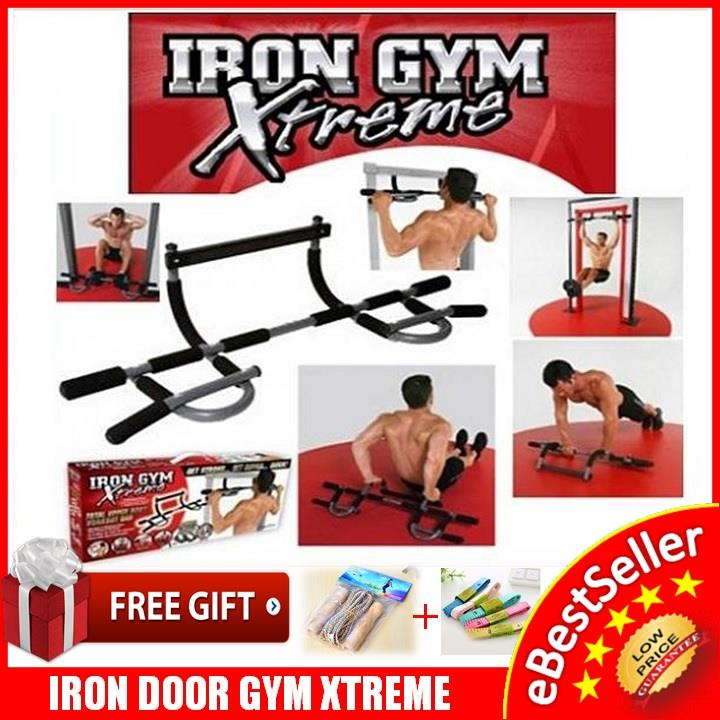 Iron Gym Xtreme Upper Body Workout Fitness Push Pull Up Bar + FREEGIFT