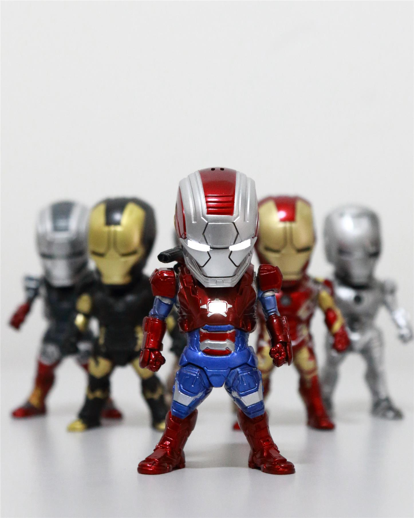 Iron Man 9cm Iron Patriot Aim Ver with LED light (Chest, Eye)